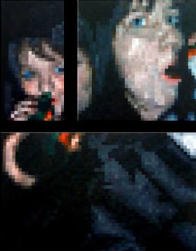 grosse soire 27.jpg Acrílico sobre lienzo. Conjunto de tres lienzos. 156 x 120 cm. 2010